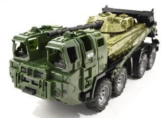 Игрушка Тягач военный Нордпласт Щит с танком - Н-258