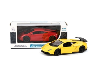 Машина 1:35 LAMBORGHINI LP570-4 SUPERTROFEO STRADALE GT8496, металл, инерционная, в коробке TM CARLI