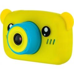 Цифровой детский фотоаппарат Мишка Children's fun Camera, жёлтый
