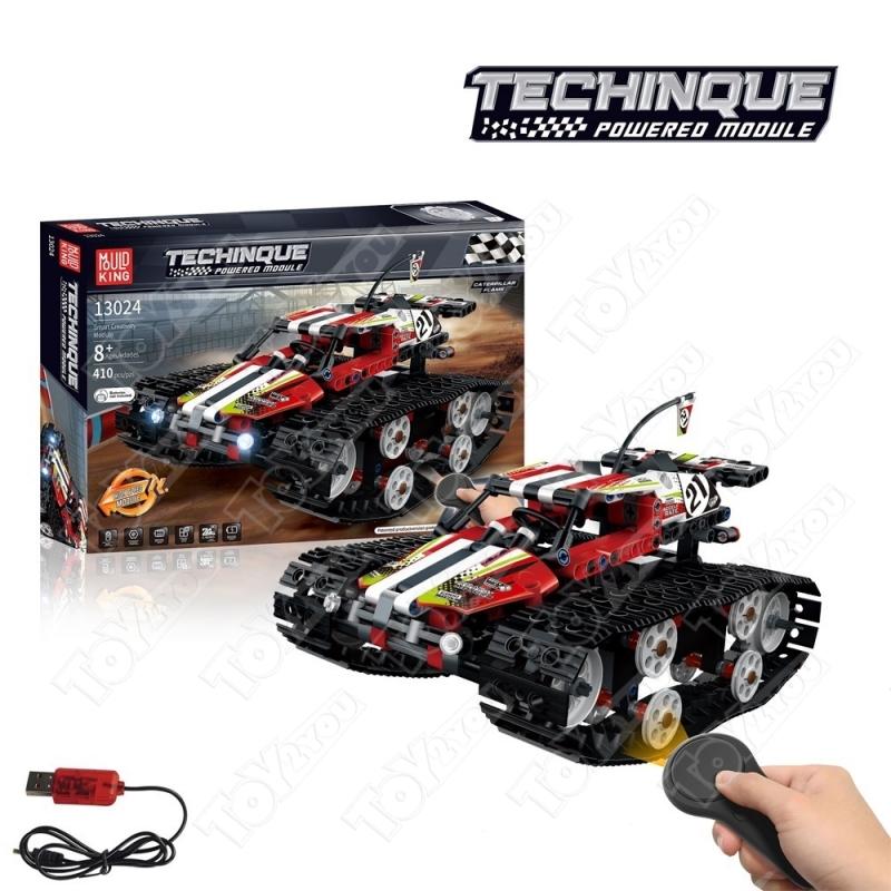 Конструктор Техникс Скоростной вездеход красный 42065 Mould King 13024 (410 деталей) с ПДУ