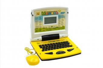 Детский развивающий компьютер МАШИНА 120 функции желто белый (JD20284ER)