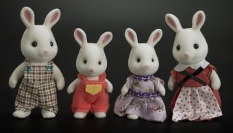 Набор фигурок Хэппи Фэмили Семья Кроликов (папа, сынок, дочка, мама)