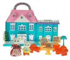 Набор игрушек Хэппи Фэмили уютный домик (2 фигурки Кошечек)
