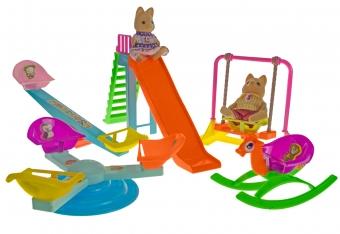 Набор Хэппи Фэмили игрушки детская игровая площадка (фигурки Белки Папа, Дочка)