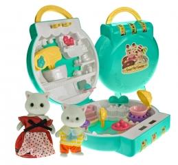 Набор игрушек Хэппи Фэмили секретный бутик с мороженым (2 фигурки Кошечки)