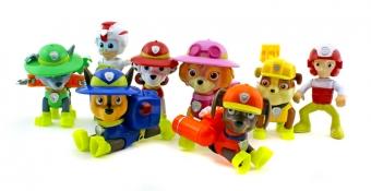 """Набор игрушек Щенячий Патруль (Paw Patrol) Команда щенков с рюкзаками-трансформерами серия """"Джунгли"""" + Райдер + Кейти"""