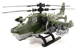 Игрушка Вертолет Нордпласт военный (247) 40 см серый/зеленый