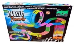 Гоночная трасса Magic Tracks 366 светящаяся M E G A SET  -  -  - 366 деталей + Мертвая петля  +  2 специальные машины
