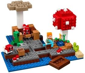 Конструктор MY World Грибной остров Майнкрафт 21129 BELA 10619 (253 детали)