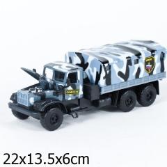Машина CT10-094-3 Технопарк КРАЗ ОМОН металл. инерционная, свет, звук, открыв.двери, капот в кор