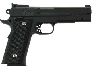 Детский пневматический пистолет из металла Colt M1911 Rail Gun G.25+ с кобурой