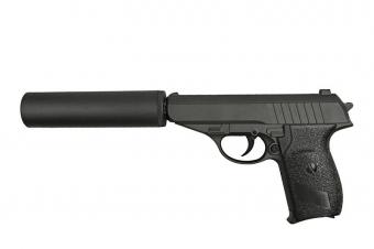 Детский пистолет игрушечный металлический Вальтер G.3A.