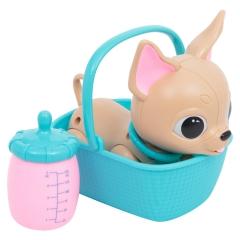 Интерактивный питомец Naughty Little Pet собачка корзинка, бутылочка (непослушный питомец)