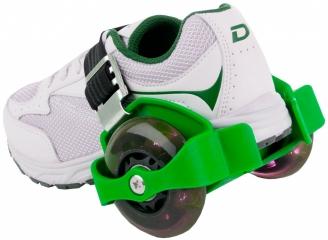 Ролики на обувь зеленые