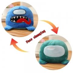 Мягкая игрушка-вывернушка Амонг Ас - Among us 15 см (Сине-голубая)