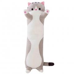 Мягкая игрушка Кот Багет серый 90 см