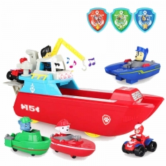 Мини-Корабль + 4 героя с транспортом Щенячий Патруль.