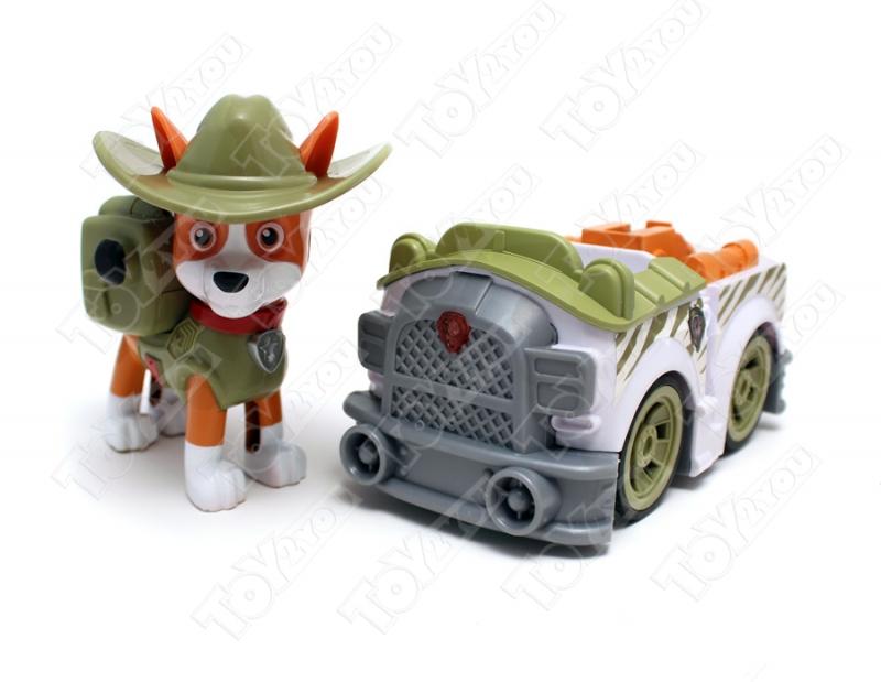 Щенячий патруль - Трекер с рюкзаком трансформером и машинка