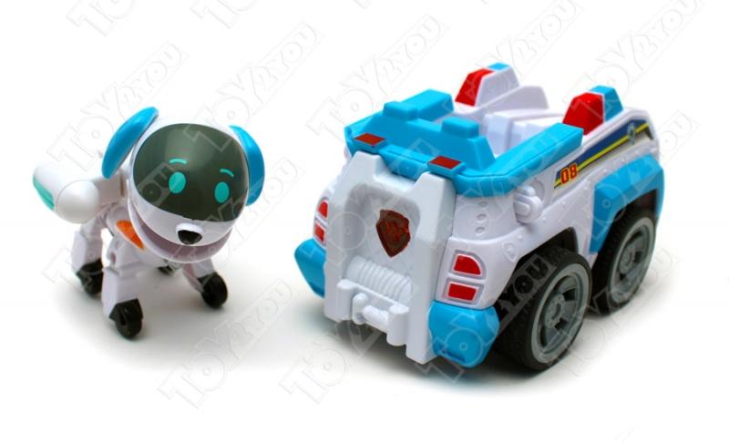 Щенячий патруль - Робопес с рюкзаком трансформером и машинка