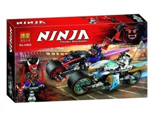 Конструктор НиндзяГо Уличная погоня 333 детали BELA NinjaGo 10802