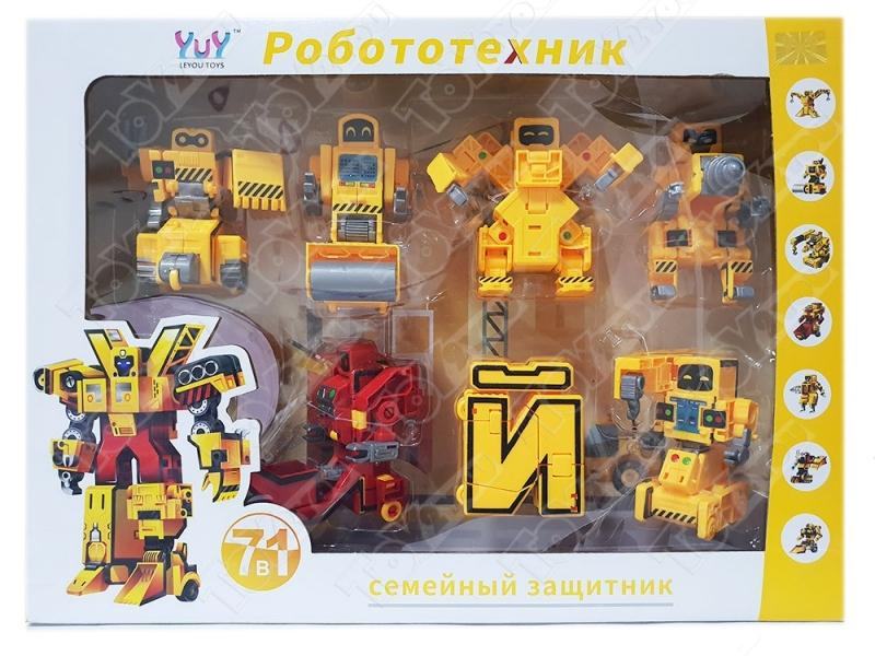 Трансботы Набор Роботы Буквы 7 шт. (ЁЖЗИЙКЛ)