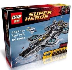 Конструктор Супергерои Геликарриер 3057 деталей 76042 LEPIN 07043