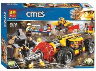 Конструктор Сити Тяжёлый бур для горных работ 312 деталей (60186 City 10875)