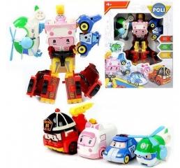 Поли робот из 4 машинок Робокар Рой, Поли, Хелли, Эмбер (Robocar Poli)