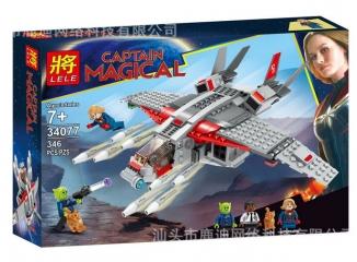 Конструктор Супергерои Капитан Марвел и атака скруллов 356 деталей 76127 LELE 34077