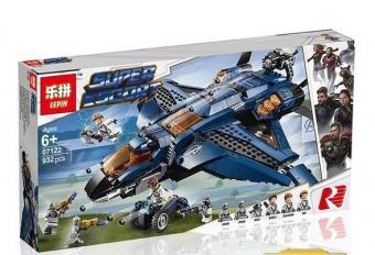 Конструктор Супергерои Модернизированный квинджет Мстителей 932 деталей 76126 LEPIN 07122