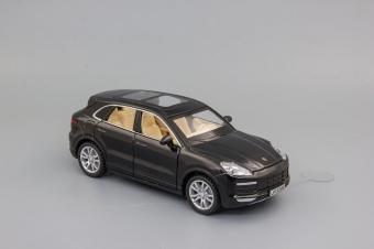 Модель автомобиля Porsche Cayenne Turbo,1:32 чёрный 155х60 мм