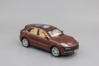 Модель автомобиля Porsche Cayenne Turbo,1:32 коричневый 155х60 мм