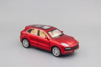 Модель автомобиля Porsche Cayenne Turbo,1:32 красный матовый 155х60 мм JY3249r