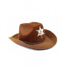 Шляпа Шерифа коричневая
