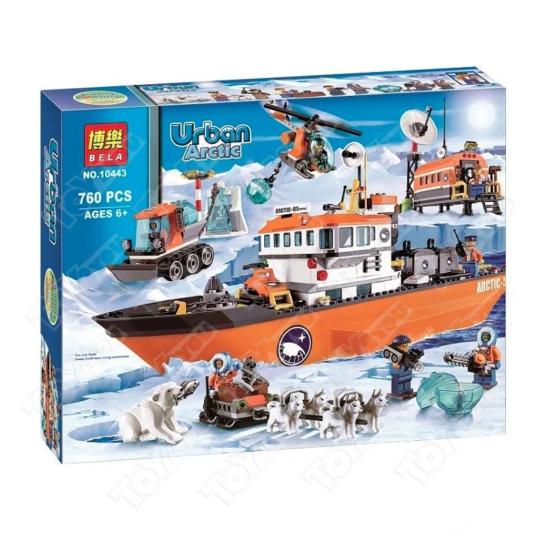Конструктор City Арктический ледокол серии Urban Arctic 760 деталей 60062 BELA 10443