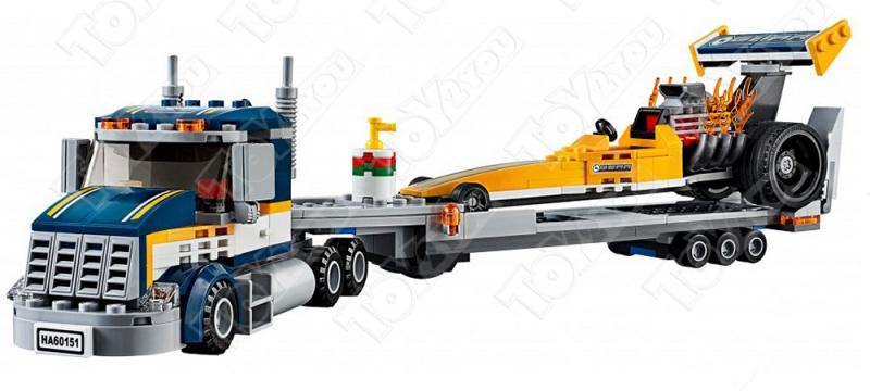 Конструктор City Грузовик для перевозки драгстера 345 деталей 60151 BELA 10650