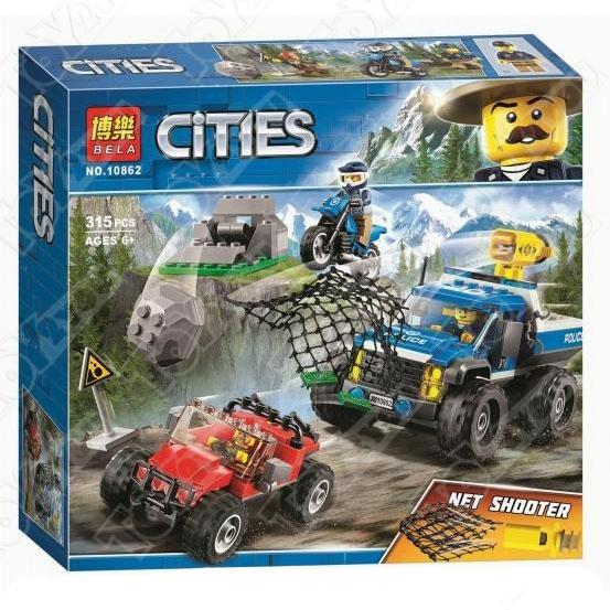 Конструктор City Погоня по грунтовой дороге 315 деталей 60172 BELA 10862