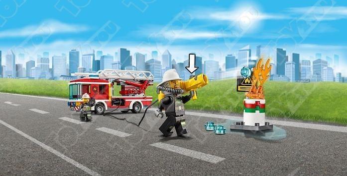 Конструктор City Пожарный автомобиль 225 деталей 60107 BELA 10828