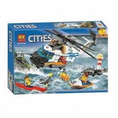 Конструктор City Спасательный вертолёт 439 деталей 60166 BELA 10754