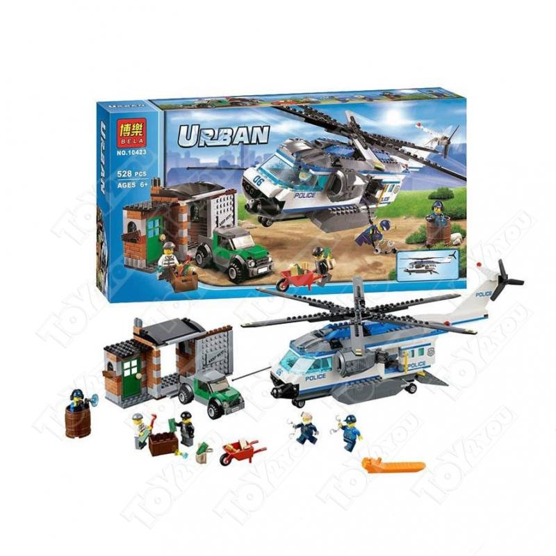 Конструктор City вертолетный патруль 528 деталей 60046 BELA 10423