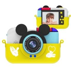 Детский цифровой фотоаппарат Микки Маус, желтый (28 Мпикс) 2 камеры