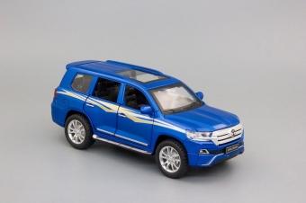 Модель автомобиля Toyota Land Cruiser 200 Series Рестайлинг 2, 150х60мм, синий LC200.bl