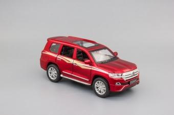 Модель автомобиля Toyota Land Cruiser 200 Series Рестайлинг 2, 150х60мм, красный матовый