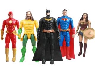 Набор Лига справедливости 5 героев (Бэтмен, Супер Мен, Флеш, Супер Женщина, Аквамен)
