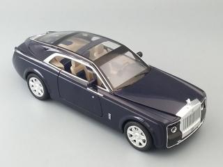 Модель автомобиля Rolls-Royce Sweptail 210х65 мм, синий