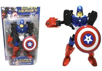 Робот-конструктор «Городские герои», МИКС Капитан Америка
