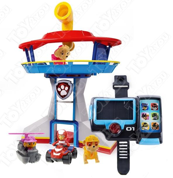 Набор игрушек Щенячий Патруль - Офис спасателей + Наручный компьютер