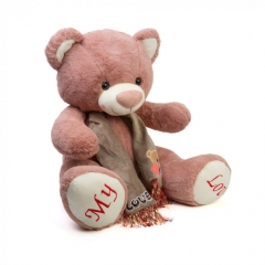 Мягкая игрушка Мишка Темно-розовый 60см
