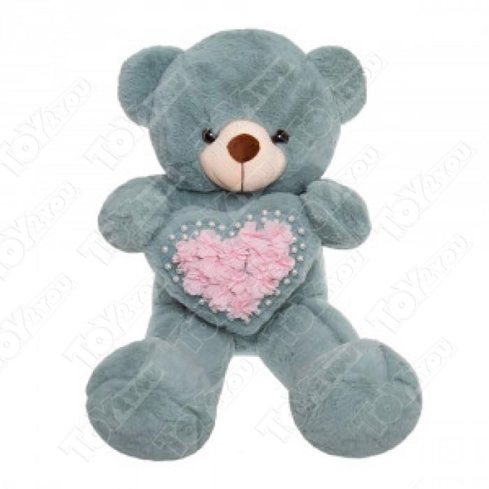 Мягкая игрушка Мишка с сердечком 70см