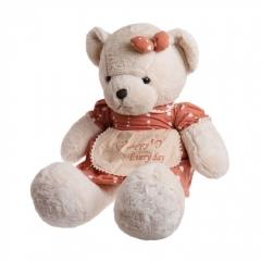Мягкая игрушка Мишка в платье 75см